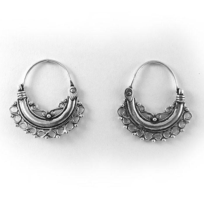 bijoux anneau oreille argent inde